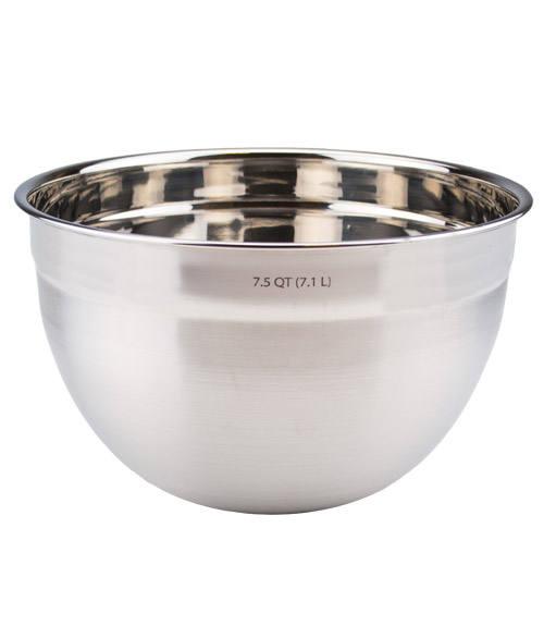 7.5 Qt. Stainless Steel Mixing Bowl