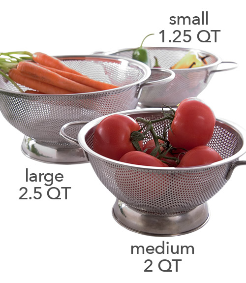 Stainless Steel Perforated Colander - Small (1.5 QT)