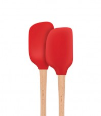 Flex-Core Wood Handled S/2 Mini Spatula & Spoonula