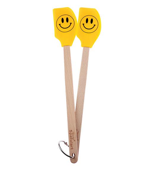 Spatulart™ Smiley FaceMini Spatulas - Set of 2
