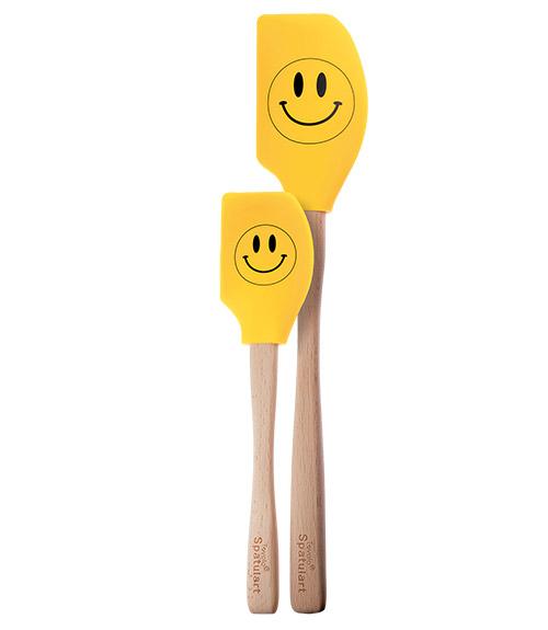 Spatulart™ Smiley Face Spatulas- Set of 2