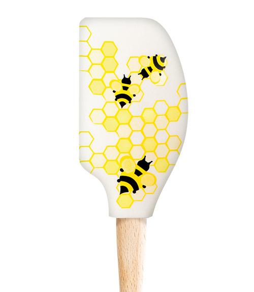 Spatulart™ Wood HandledHoneycomb Bee Spatula
