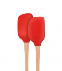 Flex-Core™ Wood HandledMini Spatula & Spoonula- Set of 2