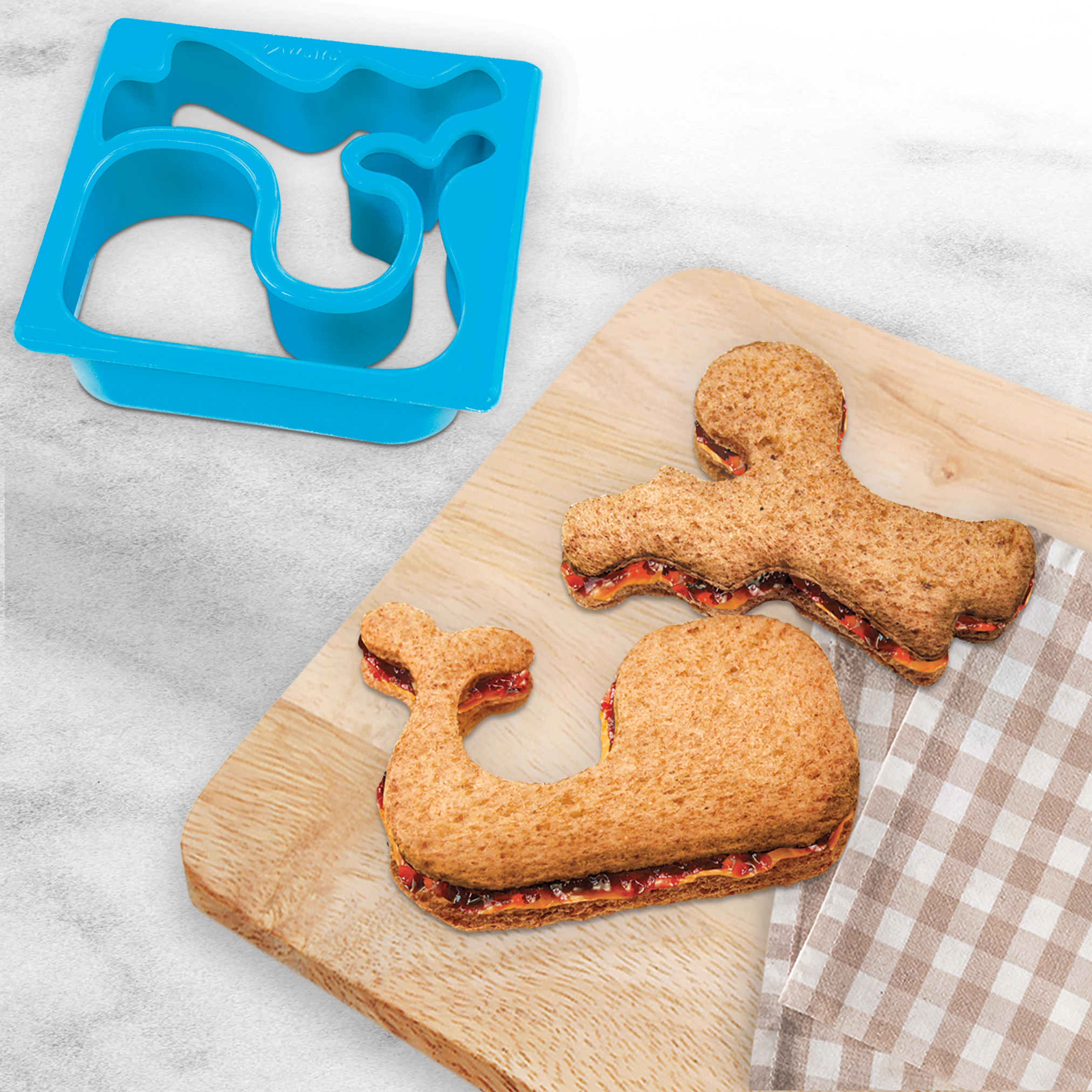 Tovolo Whale /& Octopus Sandwich Shaper Dishwasher Safe Kid-Friendly