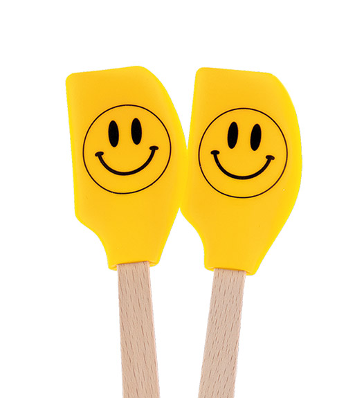 Spatulart™ Smiley FaceMini Spatulas - Set of 2