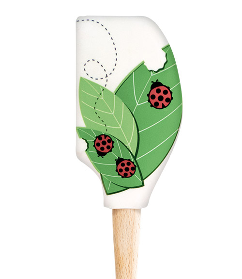 Spatulart™ Wood HandledLadybug & Leaves Spatula