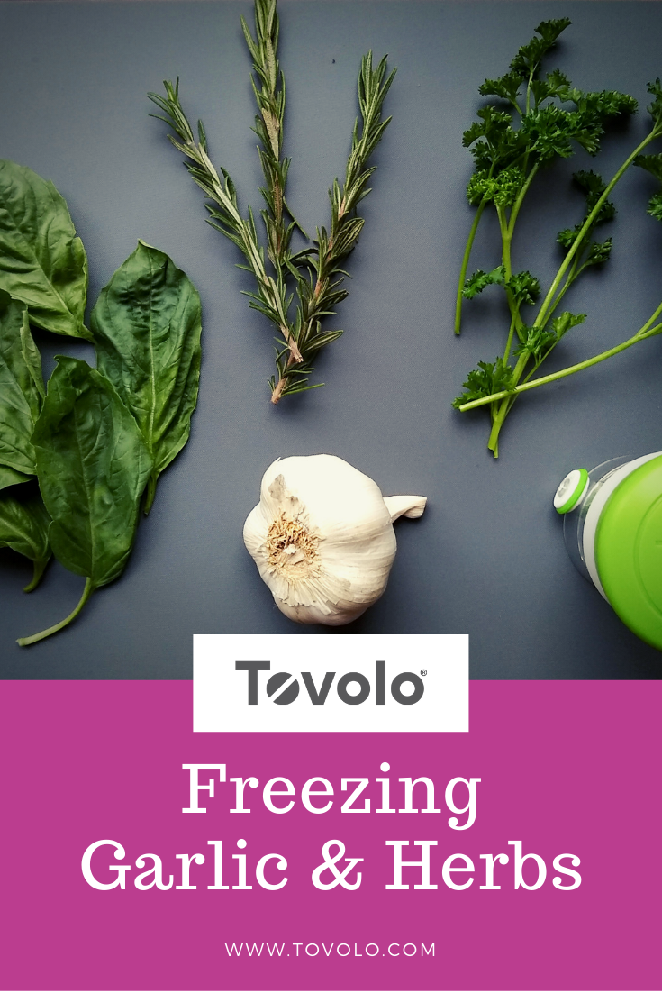 Freezing Garlic & Herbs